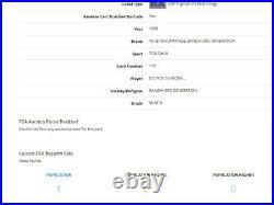 1998 YuGiOh Blue Eyes White Dragon Bandai PSA 8/9 PRE SDK-001 LOB-001 POP 2