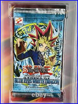 1st Ed 2002 Yu-Gi-Oh! Legend Of Blue Eyes White Dragon LOB Booster Pack PSA 10