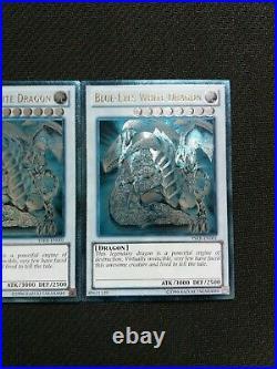1x Ultimate Rare GHOST Blue-Eyes White Dragon YSKR-EN001 Altered Art Misprint