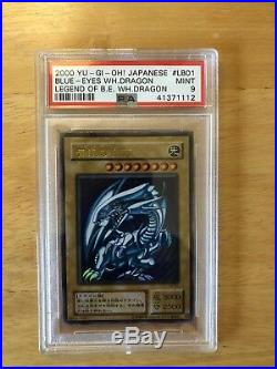 2000 Yugioh Blue-Eyes White Dragon Ultra Rare LB-01 PSA 9 Japanese