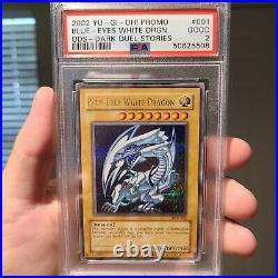 2002 YU-GI-OH! PROMO Blue-Eyes White Dragon DDS Dark Duel Stories PSA 2