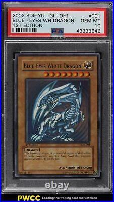 2002 Yu-Gi-Oh! 1st Edition Blue-Eyes White Dragon SDK-001 PSA 10 GEM MINT