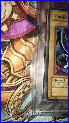 2002 Yu-Gi-Oh! Blue-Eyes White Dragon LOB-001 Graded PSA 6