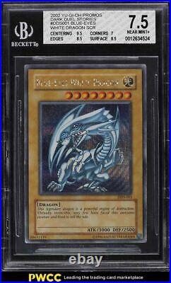 2002 Yu-Gi-Oh! Dark Duel Stories Promo Blue-Eyes White Dragon #DDS-001 BGS 7.5