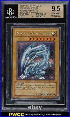 2002 Yu-Gi-Oh! Dark Duel Stories Promo Blue-Eyes White Dragon DDS-001 BGS 9.5