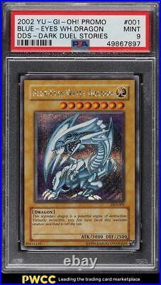 2002 Yu-Gi-Oh! Dark Duel Stories Promo Blue-Eyes White Dragon #DDS-001 PSA 9 MT