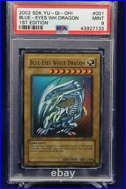 2002 Yu-Gi-Oh! Starter Deck Kaiba Blue-Eyes White Dragon SDK 1st Edition PSA 9