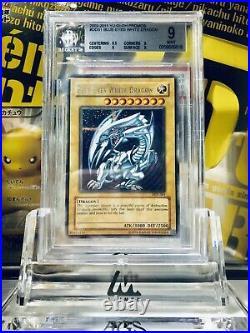 2002 Yu-Gi-Oh promo blue eyes white dragon DDS-001 BGS9