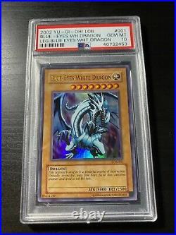 2002 YuGiOH PSA 10 Blue-Eyes White Dragon Ultra unlimited LOB-001 GEM MINT 10