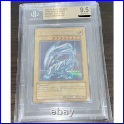 2002 YuGiOh! Blue-Eyes White Dragon SCR Ultra Rare DDS BGS 9.5 GEM MINT Japan