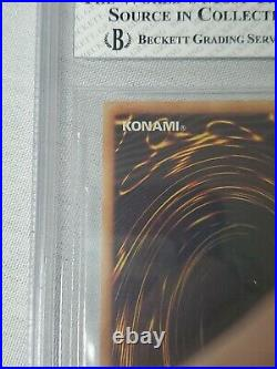 2002 Yugioh SDK 001 Blue eyes White Dragon 1st Edition Beckett BGS 5.5 Ex++ PSA
