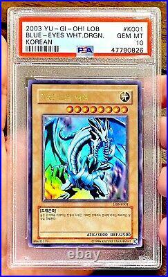 2003 Yu-Gi-Oh! Legend Of Blue-Eyes White Dragon Korean LOB-K001 PSA 10 Gem Mint