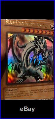 3x Blue Eyes White Dragons, LOB-001 1st Ed SKE-001 1st Ed And BPT-009 SecretRare