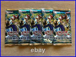 5 x YuGiOh Legend of Blue-Eyes White Dragon Booster Packs LOB New & Sealed