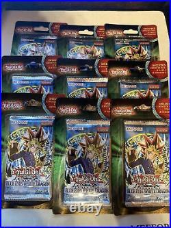 9x YuGiOh Legend Of Blue Eyes White Dragon Blister Pack Sealed Legendary Lot 9