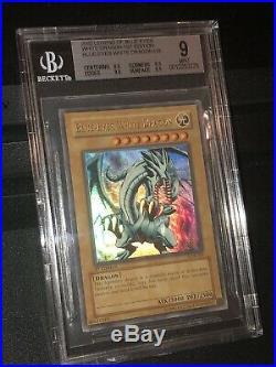 BGS 9.0 Blue Eyes White Dragon 1st Edition LOB-001 Glossy Strong Asf