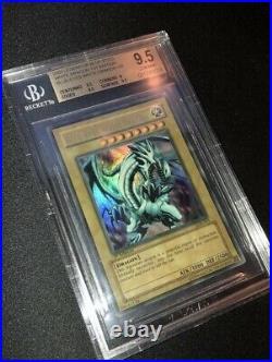 BGS 9.5 Blue Eyes White Dragon Wavy 1st Edition LOB-001 BGS/PSA Grail