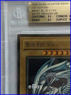 BGS 9.5 YuGiOh Blue-Eyes White Dragon SDK-001 1st Ultra Rare GEM MINT PSA 10