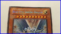 Blue-Eyes Shining Dragon RP02-EN096 Secret Rare Near Mint NM PSA 9 (foil bleed)