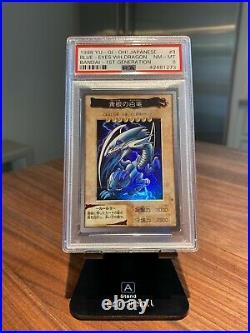 Blue Eyes White Dragon Bandai 1st Generation PSA 8 Near Mint Mint 1998 Yugioh