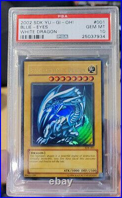 Blue Eyes White Dragon SDK-001 PSA 10 Gem Mint (Year 2002 Unlimited) YuGiOh