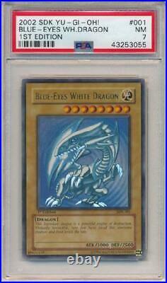 Blue-Eyes White Dragon SDK-001 PSA NM 7 Ultra Rare 1st Edition 3Q6