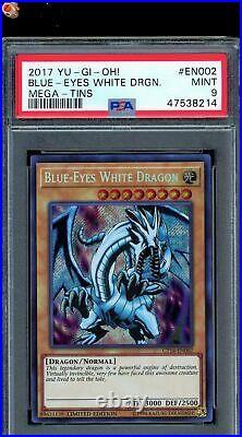 Blue-Eyes White Dragon Secret Rare 2017 Yu-Gi-Oh! Card CT14-EN002 PSA 9 MINT