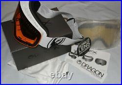 Dragon Alliance NFX Ski snowboard Goggles adult White + bonus yellow lens New