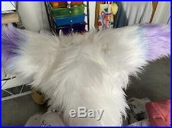 Dutch Angel Dragon Partial, paws, horns, eyes, purple, blue, white, pastel