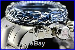 Invicta 54mm Venom Subaqua Dragon Scale Bezel Stainless Swiss Blue Chrono Watch