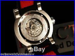 Invicta Men S1 Round Yakuza Silver Dragon Automatic NH35 SS Black/Red Strp Watch