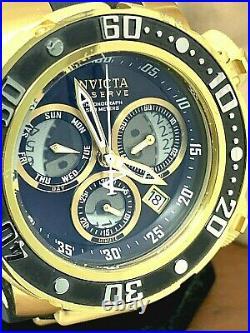 Invicta Mens Watch 21642 Reserve Subaqua Sea Dragon Swiss Black Gold Chronograph