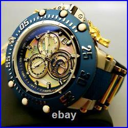 Invicta Subaqua Noma VII MOP Dail SS Case Blue Bezel Dragon Chronograph Watch