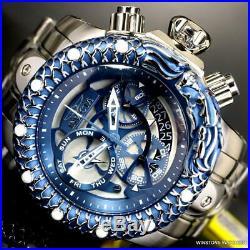 Invicta Venom Subaqua Dragon Scale Stainless Steel Blue Chronograph Watch New