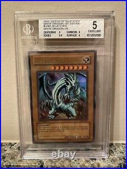 Lob 1st Edition Blue Eyes White Dragon Wavy BGS 5 PSA Mint High Regrade