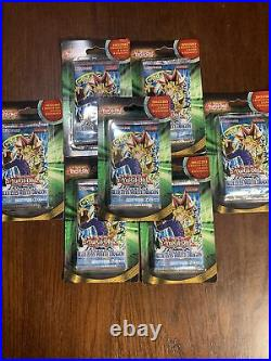 Lot of (7) Yugioh Legend of Blue Eyes White Dragon Blister Booster Packs + Cards