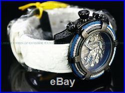 New Invicta 54mm Bolt Tri-Cable Dragon & Koi Fish Chrono Black IP SS 200M Watch