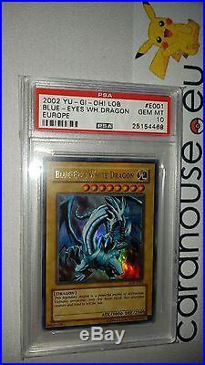 PSA 10 GEM MINT Blue Eyes White Legend Of Blue Eyes W Dragon Unlimited EU LOB