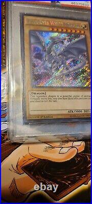 PSA 10 YUGIOH 1ST ED SECRET RARE BLUE-EYES WHITE DRAGON MVP1-ENS55 Gem Mint