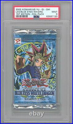 PSA 9 Yu-Gi-Oh Cards Blue Eyes White Dragon Booster Pack 1st Edition