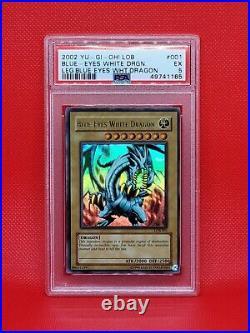 PSA Blue Eyes White Dragon LOB-001 Original 2002 Legend of Blue Eyes Set