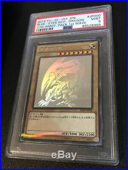 Psa 9 Mint Blue-Eyes White Dragon 20th Anniversary Pack 1st 20AP-JP000 Yugioh