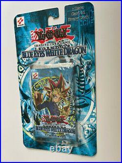 RARE! YuGiOh! Legend of Blue Eyes White Dragon Booster Blister Pack! TCG LOB
