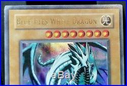 RARITY 2002 1st BLUE-EYES WHITE DRAGON LOB-001 NM EX NORTH AMERICAN
