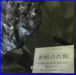 Super Rare item Yu-Gi Oh Blue Eyes White Dragon art works figure From JAPAN