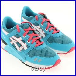 US sz 10.0 Asics Gel-Lyte III 3 Teal Dragon red turquoise white US Size 10.0