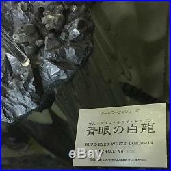 USED Yu-Gi-Oh! Blue Eyes White Dragon Figure Artwork series Serial No. 150