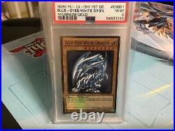Yu-Gi-Oh 1st Ed mago EN001 Blue-Eyes White Dragon Maximum Gold PSA 9 MINT yugioh