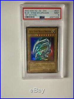 Yu-Gi-Oh! 1st Edition Blue-Eyes White Dragon SDK-001 Ultra Rare PSA 9 MINT