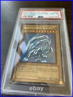 Yu-Gi-Oh! 2002 Blue Eyes White Dragon SDK-001 1st Edition PSA 8